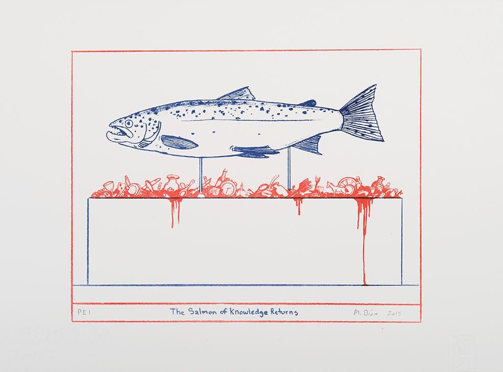 salmon of knowledge art print